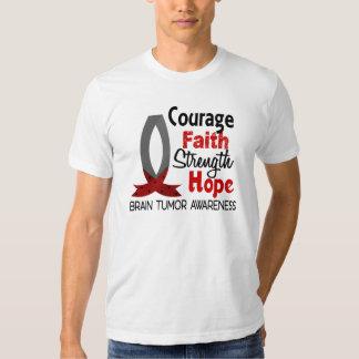 Courage Faith Strength Hope Brain Tumor Tshirts