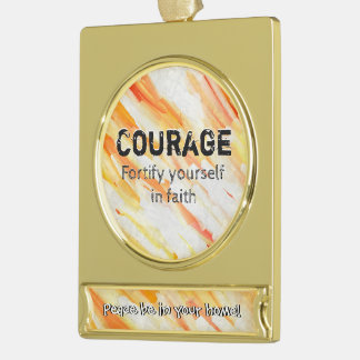 Courage Lm Gold Plated Banner Ornament