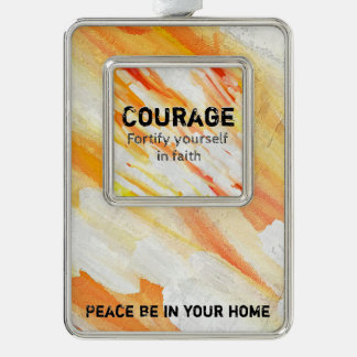 Courage Lm Silver Plated Framed Ornament
