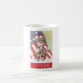 Courage mouse coffee mug