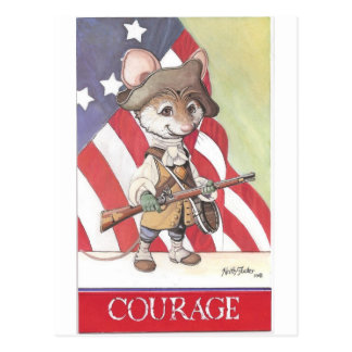 Courage mouse postcard