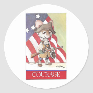 Courage mouse round sticker