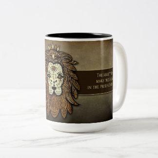 Courage Mug - Lion - Brown Tones- Encouragement