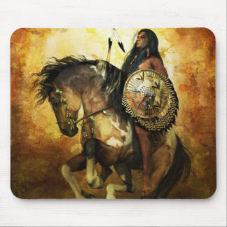 Courage Native American Warrior Mouse Pad
