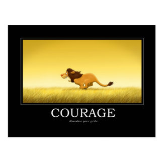 Courage Poster Postcard