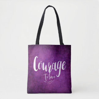 Courage to love - TOTE - BAG - Purple
