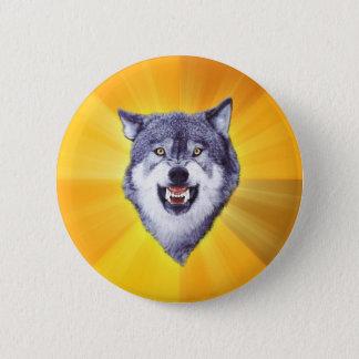 Courage Wolf Advice Animal Internet Meme 6 Cm Round Badge