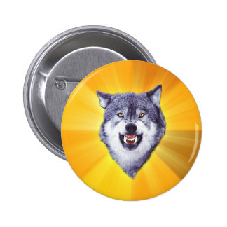 Courage Wolf Advice Animal Internet Meme 6 Cm Round Badge