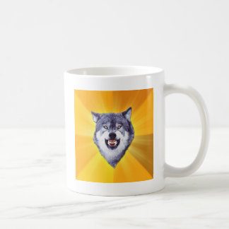 Courage Wolf Advice Animal Internet Meme Coffee Mug
