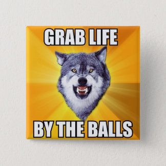 Courage Wolf Button