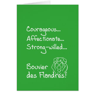 Courageous Bouvier Card