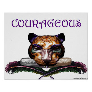 courageous- feline wild cat posters