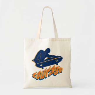 Courageous Skateboarder Tote Bag