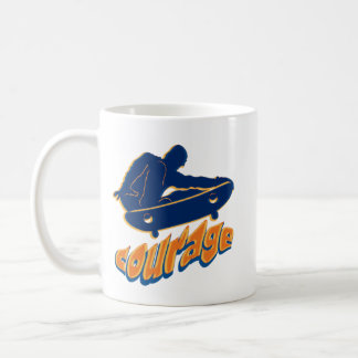 Courageous Skater Jumping Coffee Mug