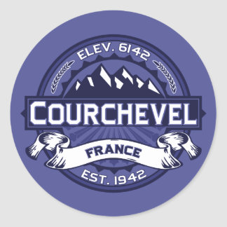 Courchevel Logo Midnight Classic Round Sticker