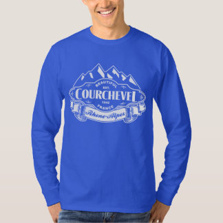 Courchevel Mountain Emblem White T-Shirt