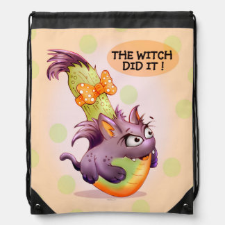 COURGETTE CAT CARTOON Drawstring Backpack