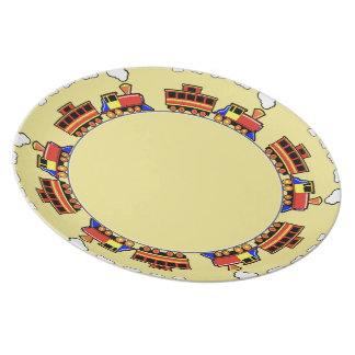 Course on melamine plates