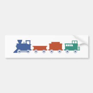 Course railway train railway bumper sticker