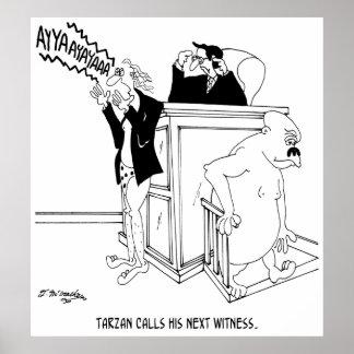 Court Cartoon 5490 Poster
