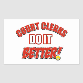 Court Clerk designs Rectangular Sticker