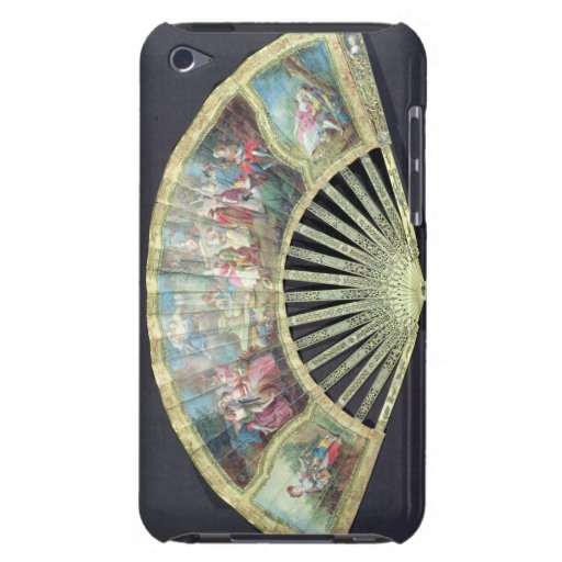 Court Fan, French, 18th century  (ivory and w/c on iPod Touch Case-Mate Case
