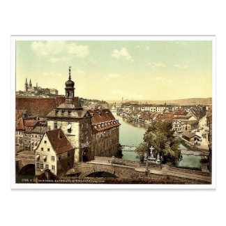 Court house, Bamberg, Bavaria, Germany vintage Pho Postcard