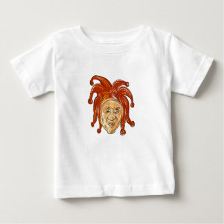 Court Jester Head Drawing Baby T-Shirt