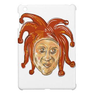 Court Jester Head Drawing iPad Mini Cover