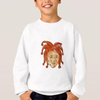 Court Jester Head Drawing Sweatshirt
