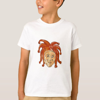 Court Jester Head Drawing T-Shirt