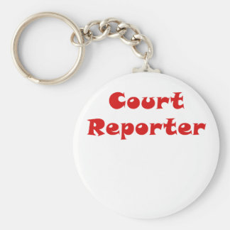 Court Reporter Basic Round Button Key Ring