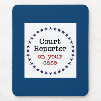 Court Reporter Case Mouse Pad