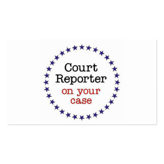Court Reporter Case Pack Of Standard Business Cards