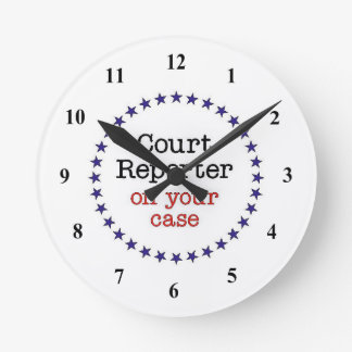 Court Reporter Case Wall Clock