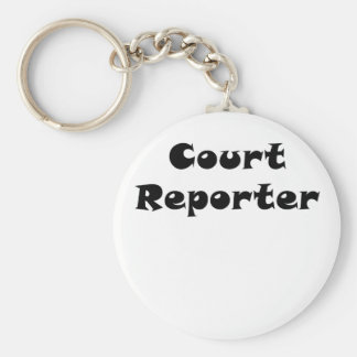 Court Reporter Key Ring