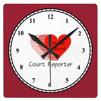 Court Reporter Record Clock