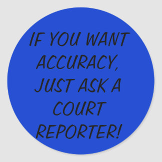 Court Reporter stickers