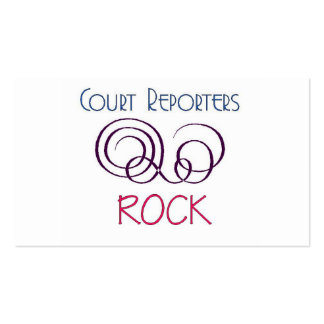 Court Reporters Rock Double-Sided Standard Business Cards (Pack Of 100)