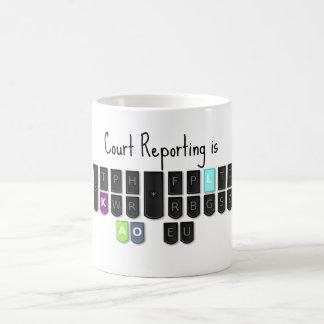 Court Reporting is Cool Steno Keyboard Mugs