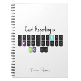 Court Reporting is Cool Steno Keyboard Note Book