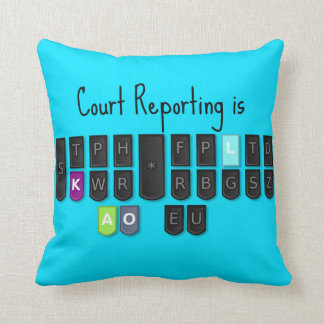 Court Reporting is Cool Steno Keyboard Pillow