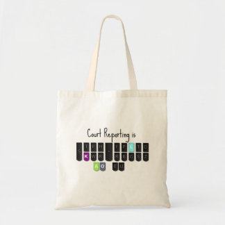 Court Reporting is Cool Steno Keyboard Tote