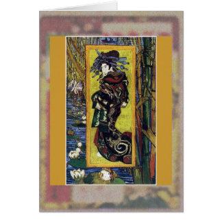 Courtesan (after Eisen) by Van Gogh Card