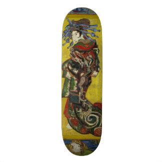 Courtesan after Eisen by Vincent Van Gogh Skate Boards