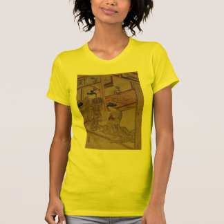 Courtesan and Kamuro in a parlour. T-shirts
