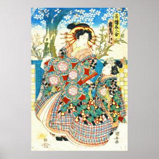 Courtesan Kashiku 1810 Poster