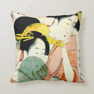 Courtesans Hinatsuru and Hinamatsu 1798 Cushion