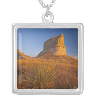 Courthouse and Jailhouse Rock near Bridgeport 2 Square Pendant Necklace