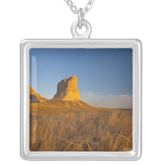 Courthouse and Jailhouse Rock near Bridgeport Square Pendant Necklace